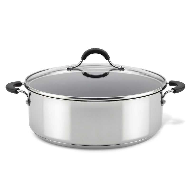 7.5-Quart Stainless Steel Nonstick Wide Stockpot