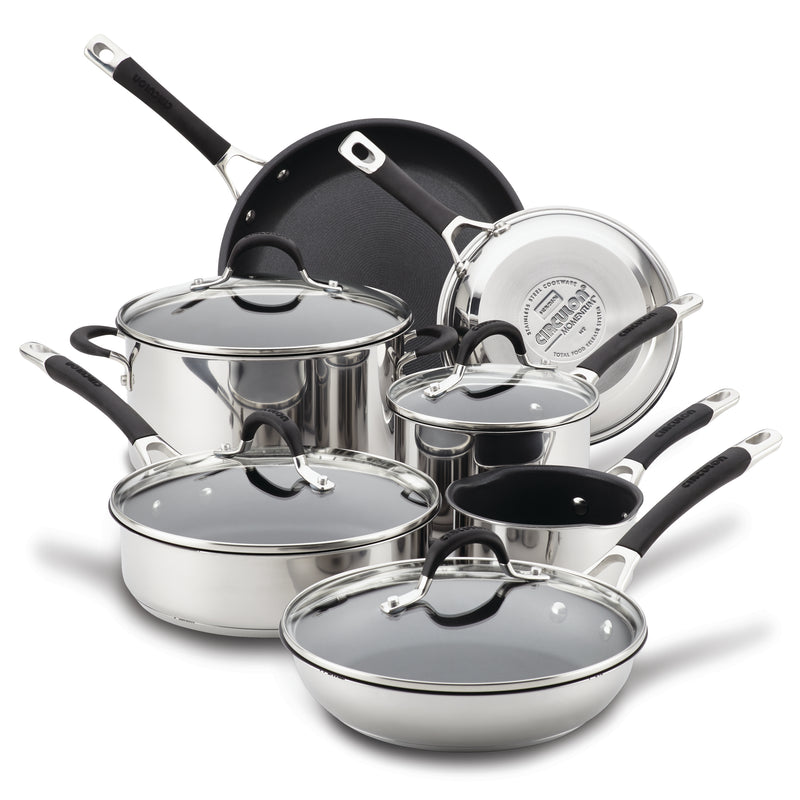 11-Piece Stainless Steel Nonstick Cookware Set