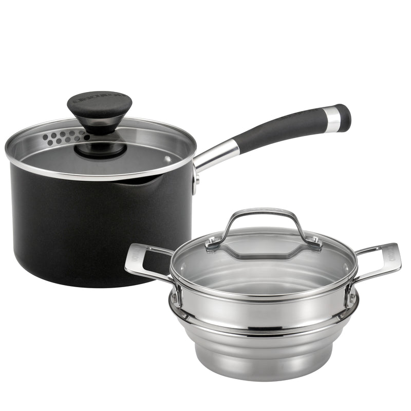 Nonstick Straining Steamer Set