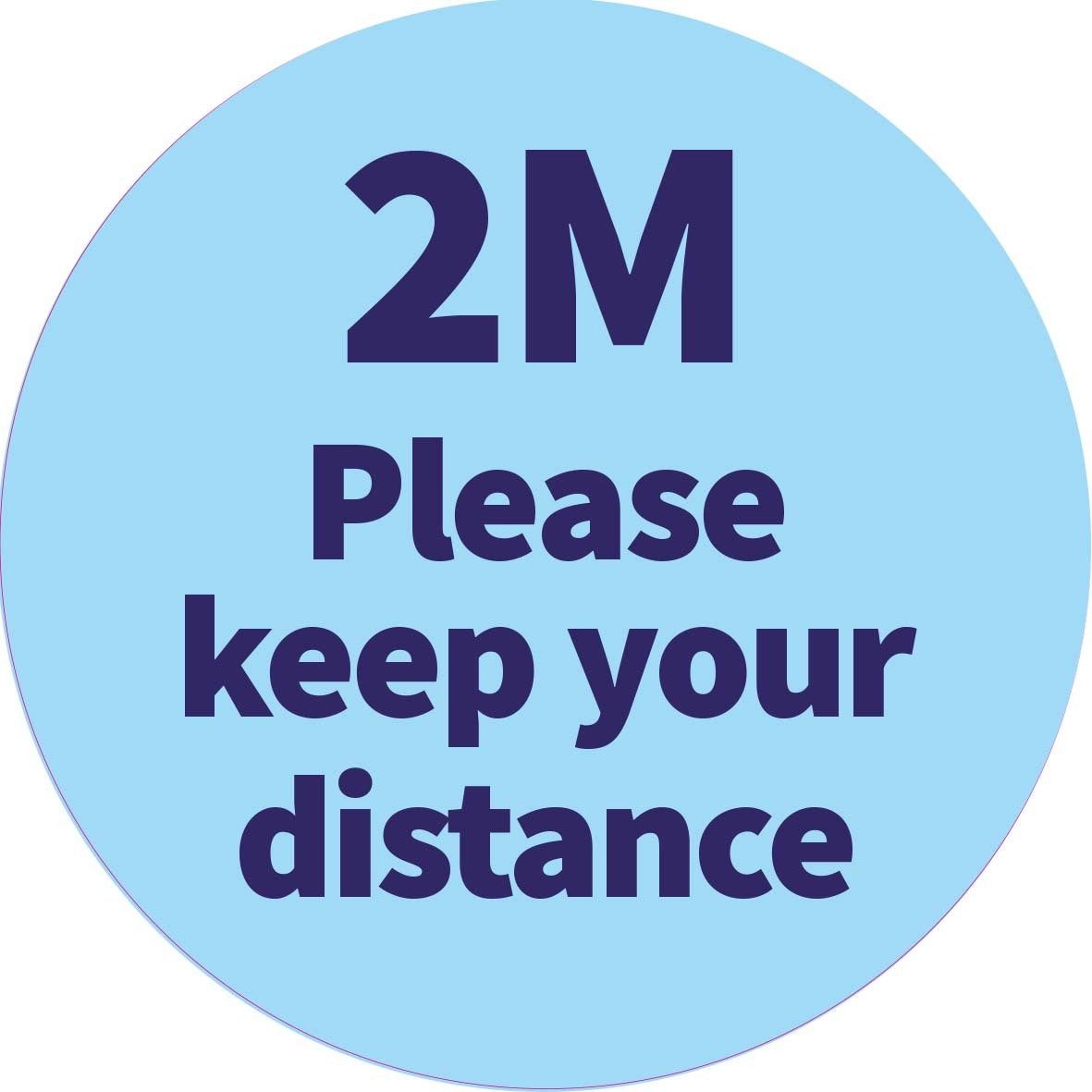 Keep your distance - 2m