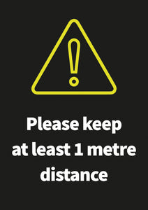 1 Metre Distance poster