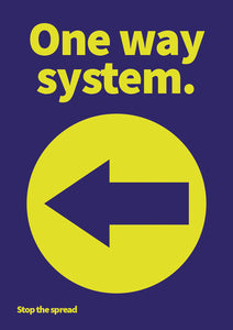 One Way (left arrow) PVC sign