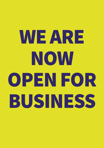 Open for Business poster