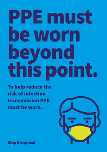 PPE Must Be Worn poster