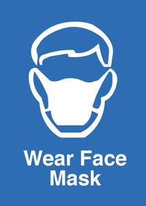 Wear Face Mask aluminium sign