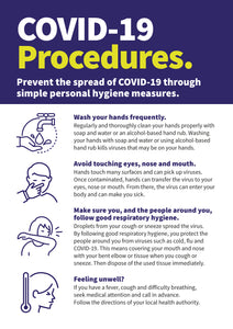 Covid-19 Procedures PVC sign
