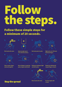 Follow the Steps hardwearing poster