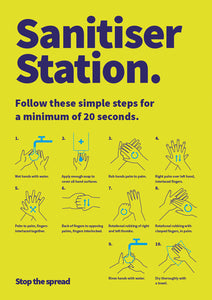 Sanitiser Station poster