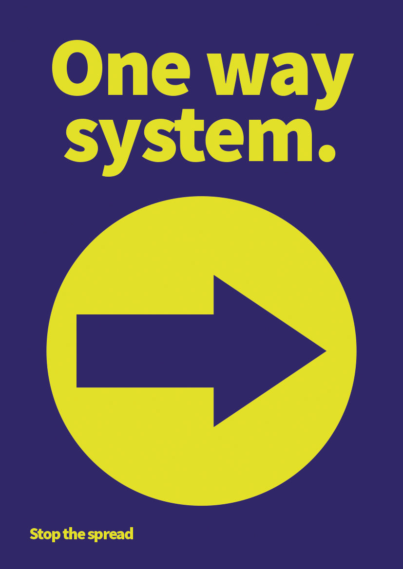 One Way (right arrow) hardwearing poster