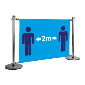 2m Apart (figures) queue barrier