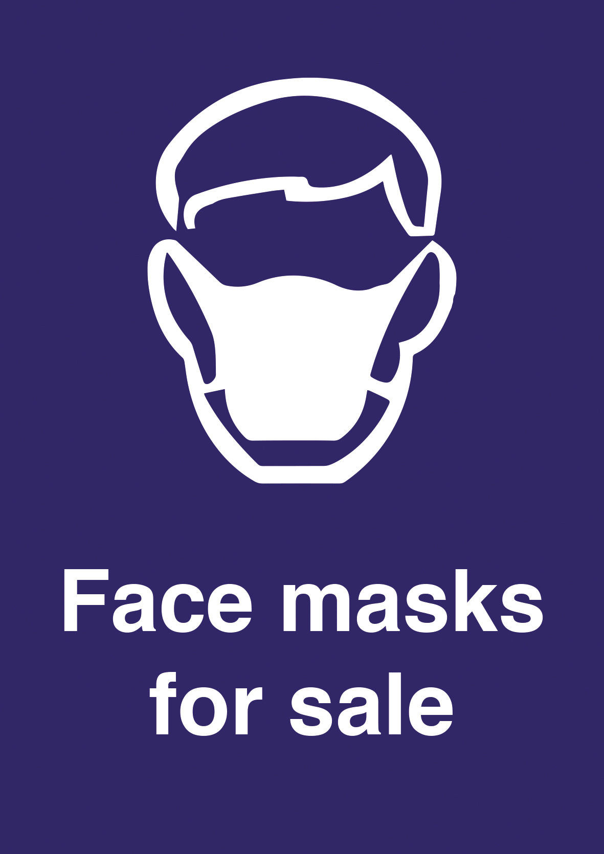 Face masks for sale hardwearing poster