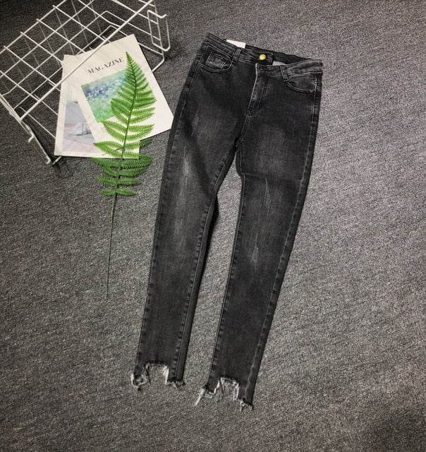 women's fashion casual  Denim Pants