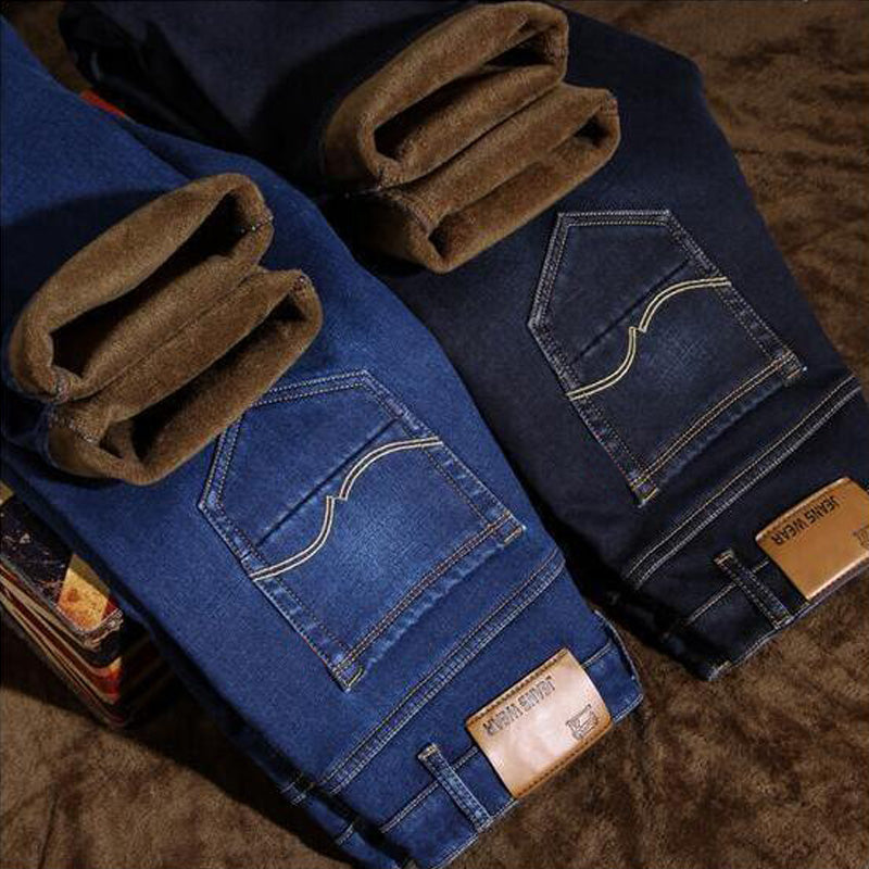 Slim Fit Velvet Warm Jeans