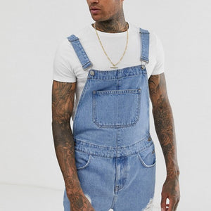Overall Shorts Fashion Casual Jeans