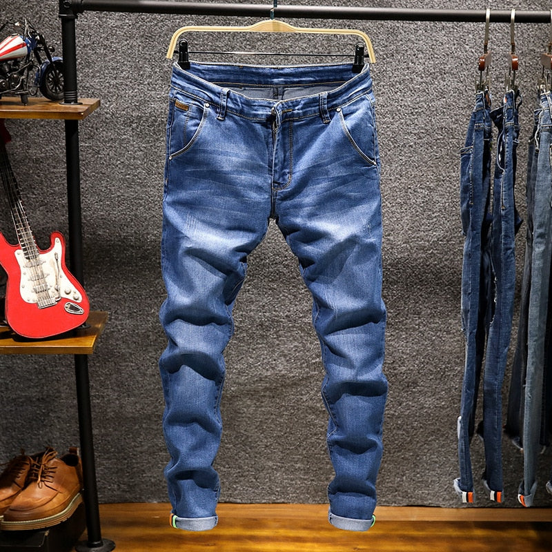 Men's Elastic Cotton Stretch Jeans