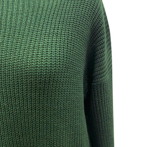 O-neck Solid Colo Pullover Sweater