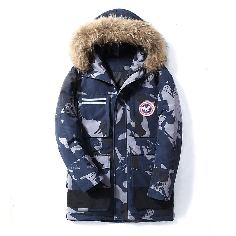 Windproof Waterproof Fur Down Coats
