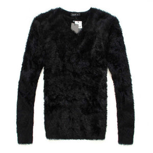 Slim Fit O-Neck mohair sweater