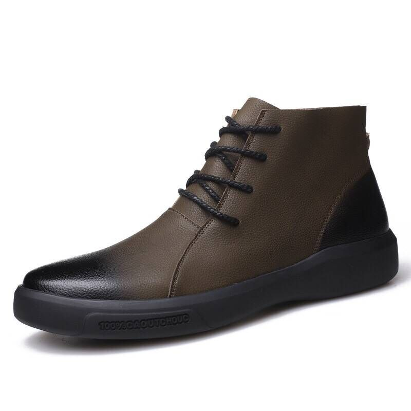 Soft Leather Mens Boots Shoes