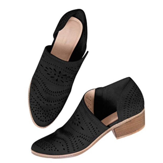 Leisure Hollow Low-heeled Shoes