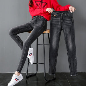 High-waisted Black Jeans