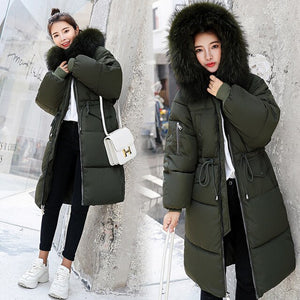 Fur Hooded Thicken Zipper Coats