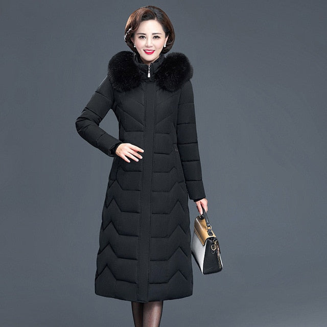 Winter Fur Hooded Coat
