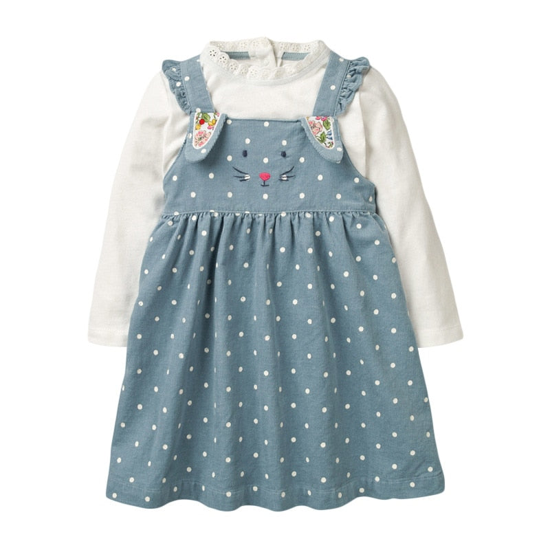 Kids Overalls Dress Animal