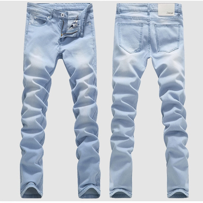 Men's washed Denim jeans