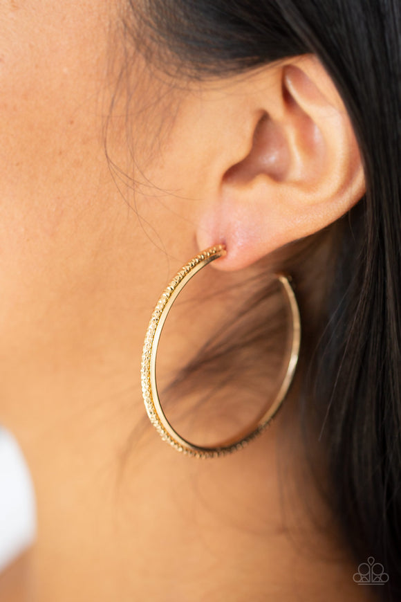 Paparazzi Girl Gang-gold hoops