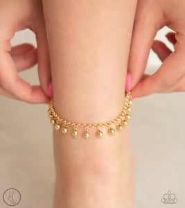 Paparazzi West Coast Cruzin-gold anklet