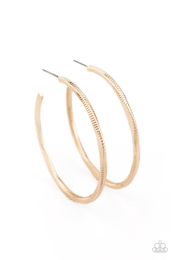 Paparazzi Spitfire-gold hoops