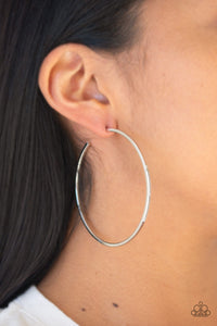 Paparazzi Perfect Shine-silver hoops