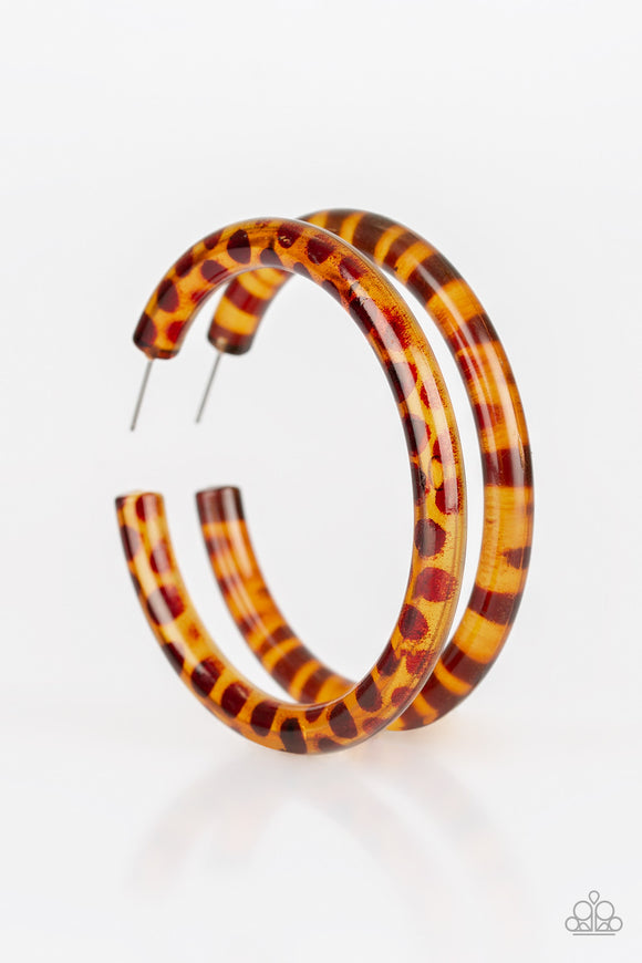 Paparazzi Miami Minimalist-brown hoops