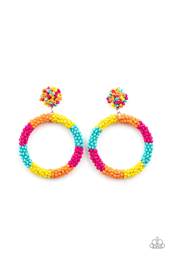PRE-ORDER Paparazzi Be All You Can BEAD-Multi Seed Bead Hoops