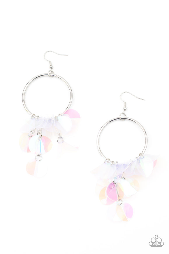 PRE-ORDER Paparazzi Holographic Hype-Multi Sequin Earrings LIFE OF THE PARTY EXCLUSIVE