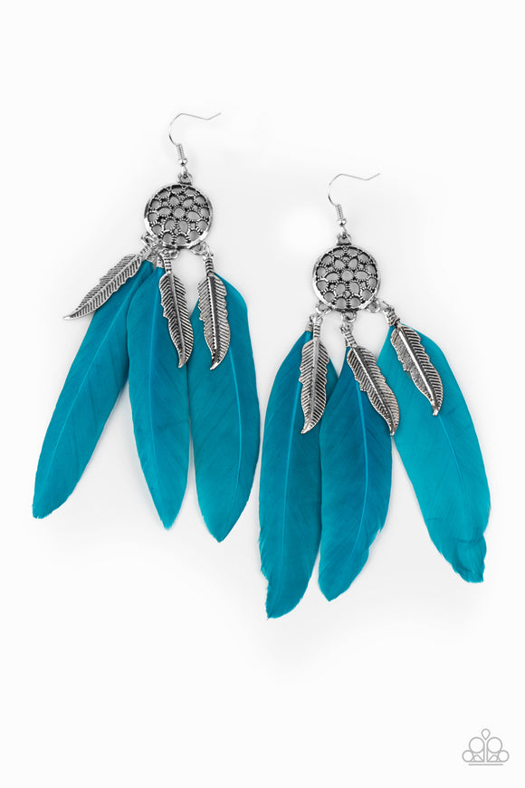 PRE-ORDER Paparazzi In Your Wildest DREAMCATCHERS-Blue Feather