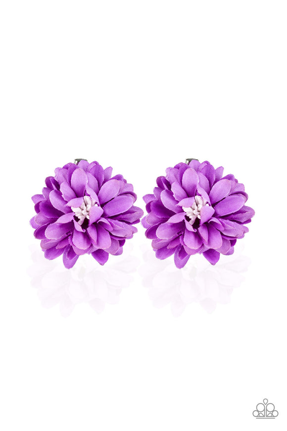 Paparazzi Tasteful in Tulips-purple hair clip