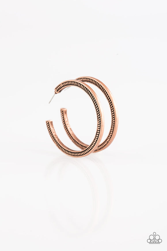 Paparazzi This is My Tribe-copper hoops