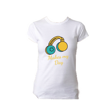 Load image into Gallery viewer, Music Makes My Day Graphic T Shirt