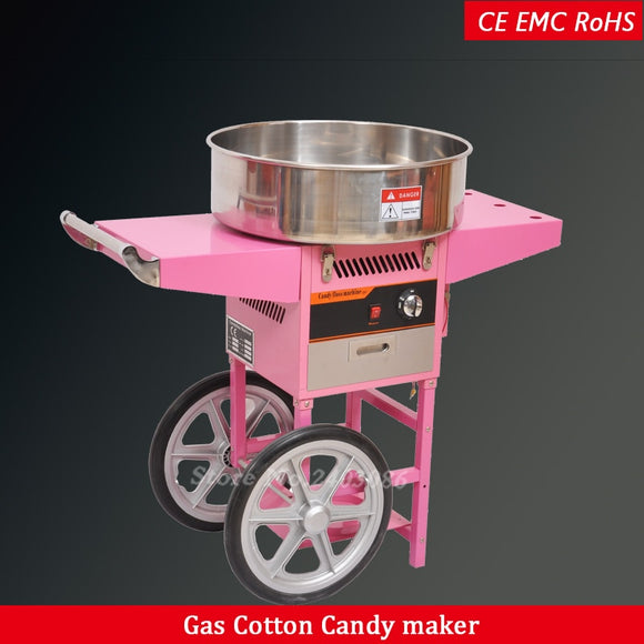 commercial stainless steel gas cotton candy floss machine