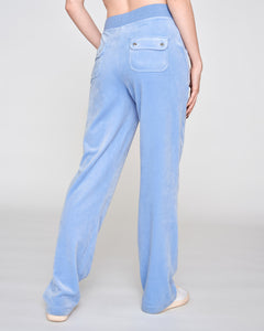 Del Ray Velour Pant Della Robia Blue - Juicy Couture Scandinavia