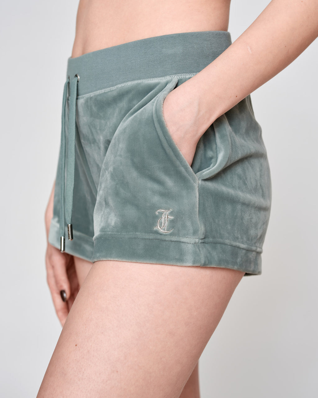 Eve Classic Velour Shorts Chinois Green - Juicy Couture Scandinavia
