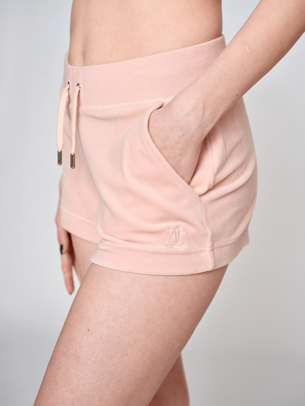 Eve Classic Velour Shorts Pale Pink - Juicy Couture Scandinavia