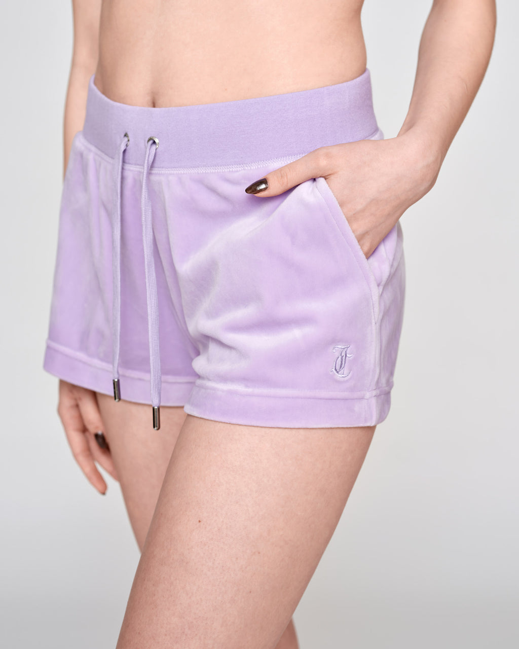 Eve Classic Velour Shorts Pastel Lilac - Juicy Couture Scandinavia
