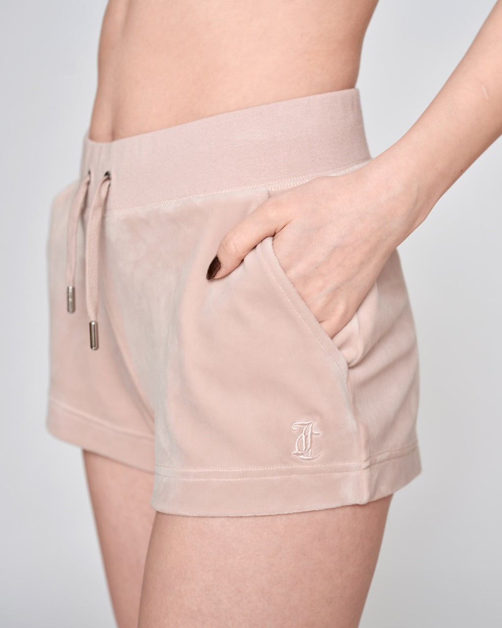 Eve Classic Velour Shorts Shadow - Juicy Couture Scandinavia