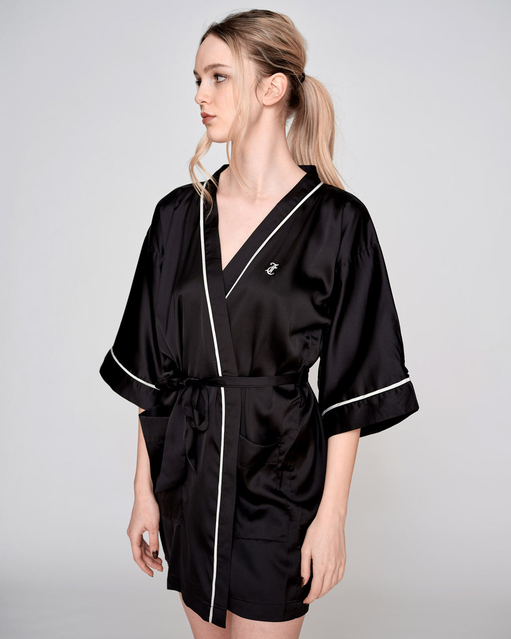 Peggy Satin Kimono Black - Juicy Couture Scandinavia