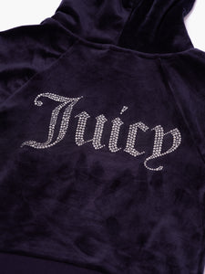 Sally Diamante Velour Hoodie Night Sky - Juicy Couture Scandinavia