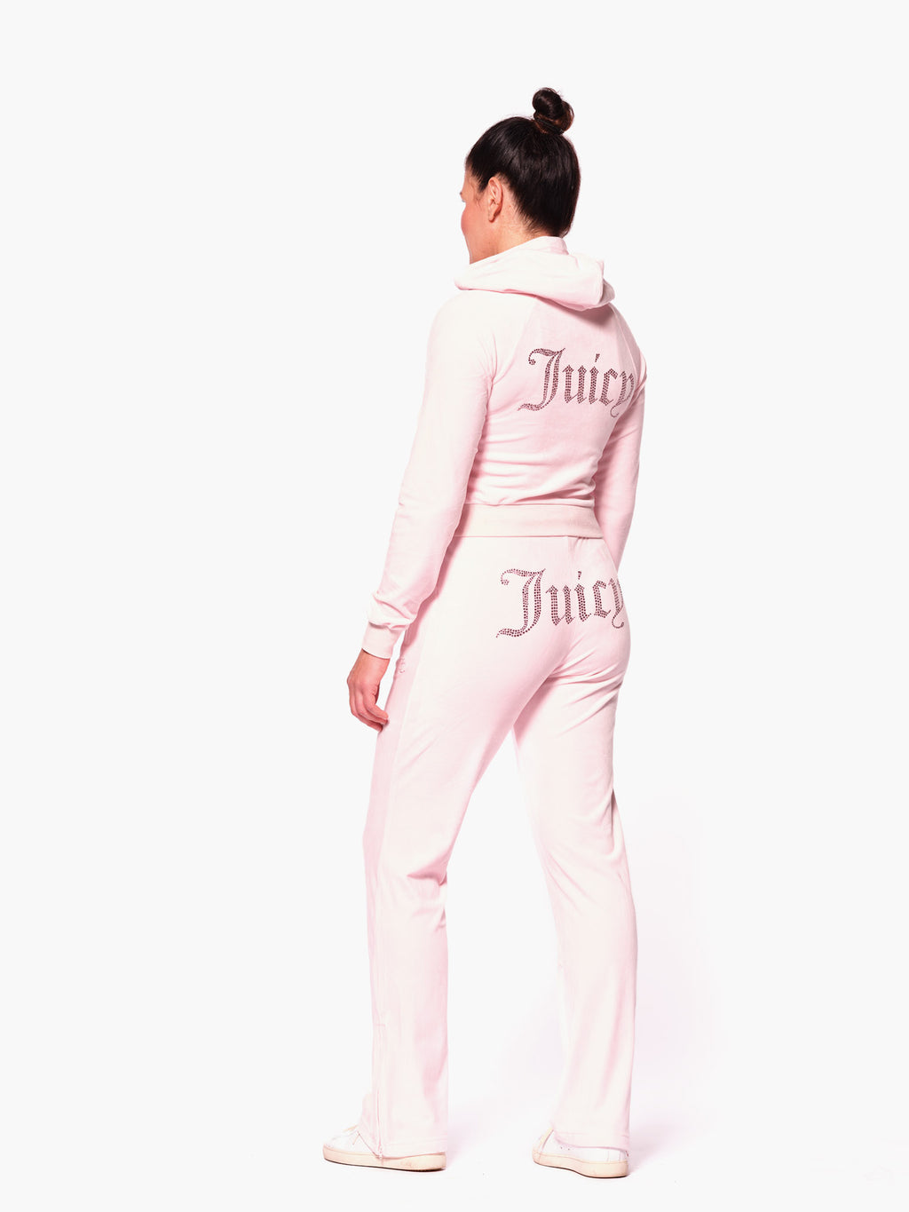 Tina Diamante Velour Pant Almond Blossom - Juicy Couture Scandinavia