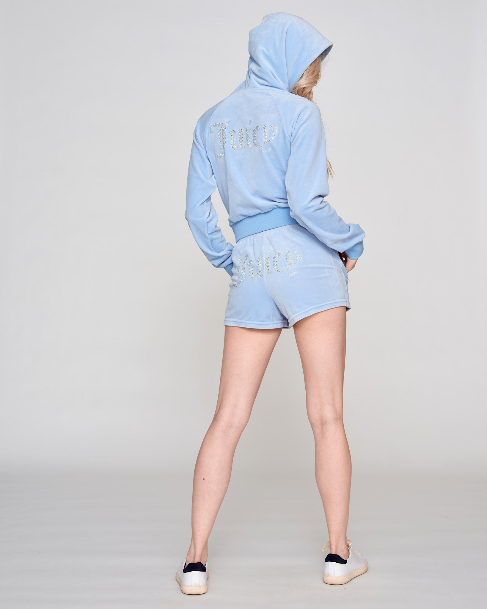 Tamia Track Shorts Powder Blue - Juicy Couture Scandinavia